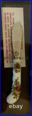 Royal Albert Old Country Roses Cake Knife, Jam Spoon, Cheese Knife, Pie Server