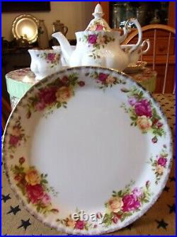 Royal Albert Old Country Roses Child's Mini Tea Pot Cup Set 8 Pc HAT BOX New