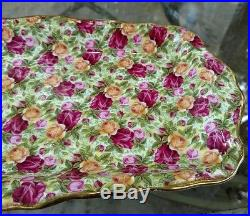 Royal Albert Old Country Roses Chintz Collection 1999 Large Sandwich Tray 12