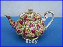 Royal Albert Old Country Roses Chintz Collection Large Teapot England Unused