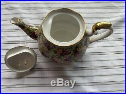 Royal Albert Old Country Roses Chintz Collection Teapot Bone China #4408