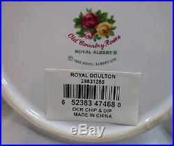 Royal Albert Old Country Roses Chip & Dip Set Snack Server Platter Tray Bowl NEW