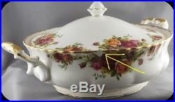 Royal Albert Old Country Roses Covered Casserole Vegetable Server England