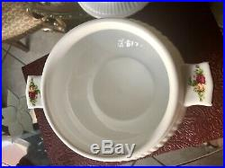 Royal Albert Old Country Roses Covered SOUP Vegetable Tureen Very Good Condition
