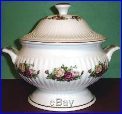 Royal Albert Old Country Roses Covered Soup Vegetable Tureen withSide Handles New