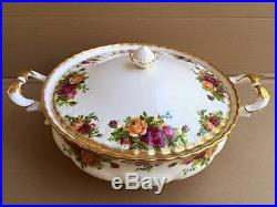 Royal Albert Old Country Roses Covered Vegetable Bowl 6 Cups C92816
