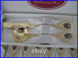 Royal Albert Old Country Roses Cutlery Afternoon Tea Spoons Jam Butter Spreader