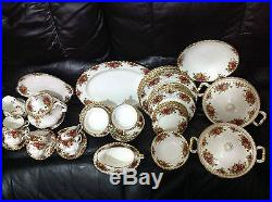 Royal Albert Old Country Roses Dinner, Tea & Soup Coups Service For Six People