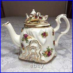 Royal Albert Old Country Roses Earthenware Vintage Tea TableTeapot Paul Cardew