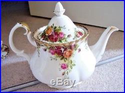 Royal Albert Old Country Roses England Full tea set, Large tea pot, 22 pieces, 1s