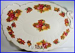 Royal Albert Old Country Roses Fall Foliage Turkey Shaped Platter 19 Imperfect