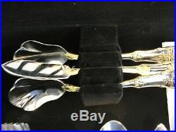 Royal Albert Old Country Roses Flatware 64 Pieces With Case