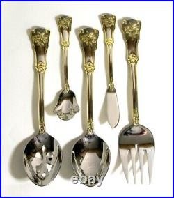 Royal Albert Old Country Roses Flatware Set For 12 plus Serving Set 65 Pieces