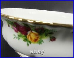 Royal Albert Old Country Roses Floral Print 10 Large Salad Serving Footed Bowl