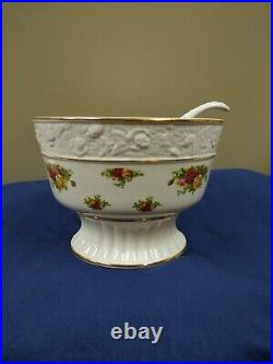 Royal Albert Old Country Roses Footed Compote, Punch Bowl 1962