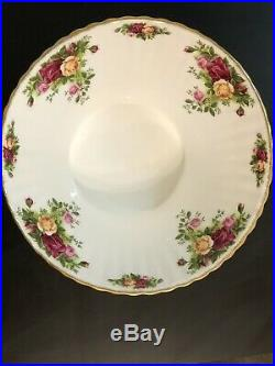 Royal Albert Old Country Roses Footed Fluted Large Bowl