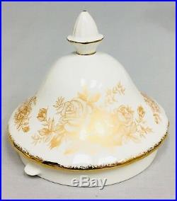 Royal Albert Old Country Roses GOLD TEAPOT Sugar Bowl Creamer 2007 Edition