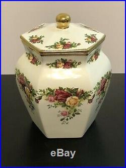 Royal Albert Old Country Roses Ginger Jar Hexagonal Shape