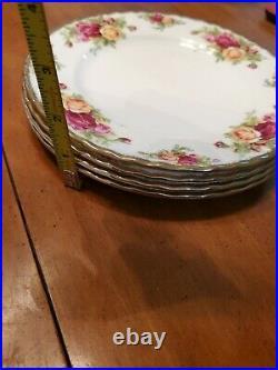 Royal Albert Old Country Roses Gold China Salad Plates Set of 4
