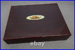 Royal Albert Old Country Roses Gold Stainless Steel Flatware 47 Pc Spoon BOX