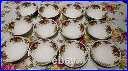 Royal Albert Old Country Roses Green Trim 12 Soup Bowls