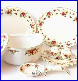 Royal Albert Old Country Roses Green Trim Classic Collection Casserole Platter +