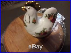 Royal Albert Old Country Roses Hen English Bone China Rooster Chicken Porcelain