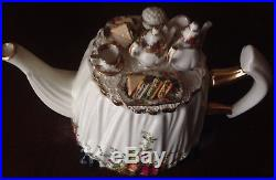 Royal Albert Old Country Roses LARGE Teapot 1996 coffee creamer cup tea platter