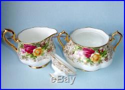 Royal Albert Old Country Roses Lace Sugar Bowl & Creamer New