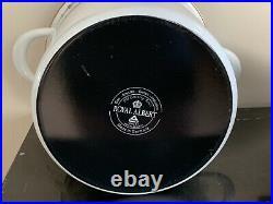 Royal Albert Old Country Roses Large 10 Quart Enamel Stock Pot Germany 2002