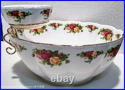Royal Albert Old Country Roses Large Chip & Dip Bowl Centerpiece Tableware