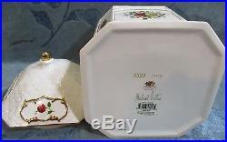 Royal Albert Old Country Roses Large Gazebo Cookie Jar/Biscuit Barrel Signed LE