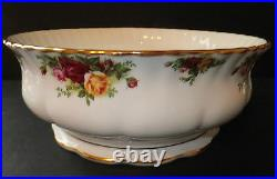 Royal Albert Old Country Roses Large Salad Serving Bowl Footed Brand New with Tag