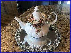 Royal Albert Old Country Roses Large Teapot Made In England Excellent