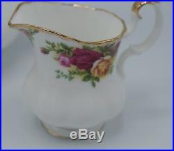 Royal Albert Old Country Roses Large Teapot Sugar Bowl And Creamer Set