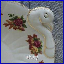 Royal Albert Old Country Roses Large Turkey Platter Fall Foliage