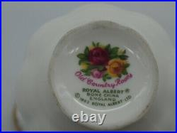 Royal Albert Old Country Roses Miniature Tea Set -Four Pieces English c. 1962