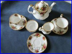 Royal Albert Old Country Roses Miniature Tea Set Made England