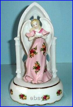 Royal Albert Old Country Roses Musical Angel With Dove Figurine Limited Edt New