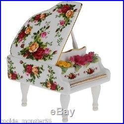 Royal Albert Old Country Roses Musical Piano RARE