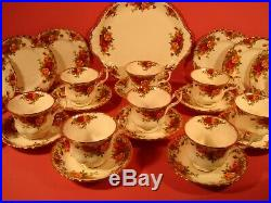 Royal Albert Old Country Roses Pattern, 27 Piece Tea Set, 1st Quality 1962-73