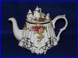 Royal Albert Old Country Roses Paul Cardew Large Victorian Table Teapot