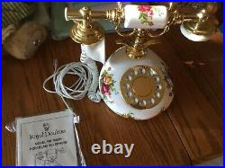 Royal Albert Old Country Roses Push Button Phone with US Plug Rare