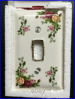 Royal Albert Old Country Roses Rare Light Switch Plate Cover