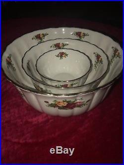 Royal Albert Old Country Roses Rare Nesting Bowls