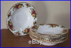 Royal Albert Old Country Roses Rim Soup Bowls X8 Bone China Great ...