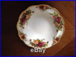 Royal Albert Old Country Roses Rimmed Soup Bowls 8