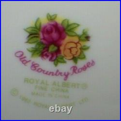 Royal Albert Old Country Roses Round Covered Vegetable Serving Bowl Gold Rope