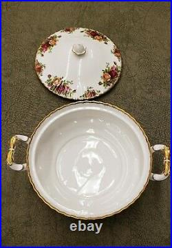 Royal Albert Old Country Roses Round Vegetable Bowl with Lid