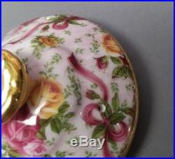 Royal Albert Old Country Roses Ruby Celebration Pink Chintz Teapot & 2 Cup Sets